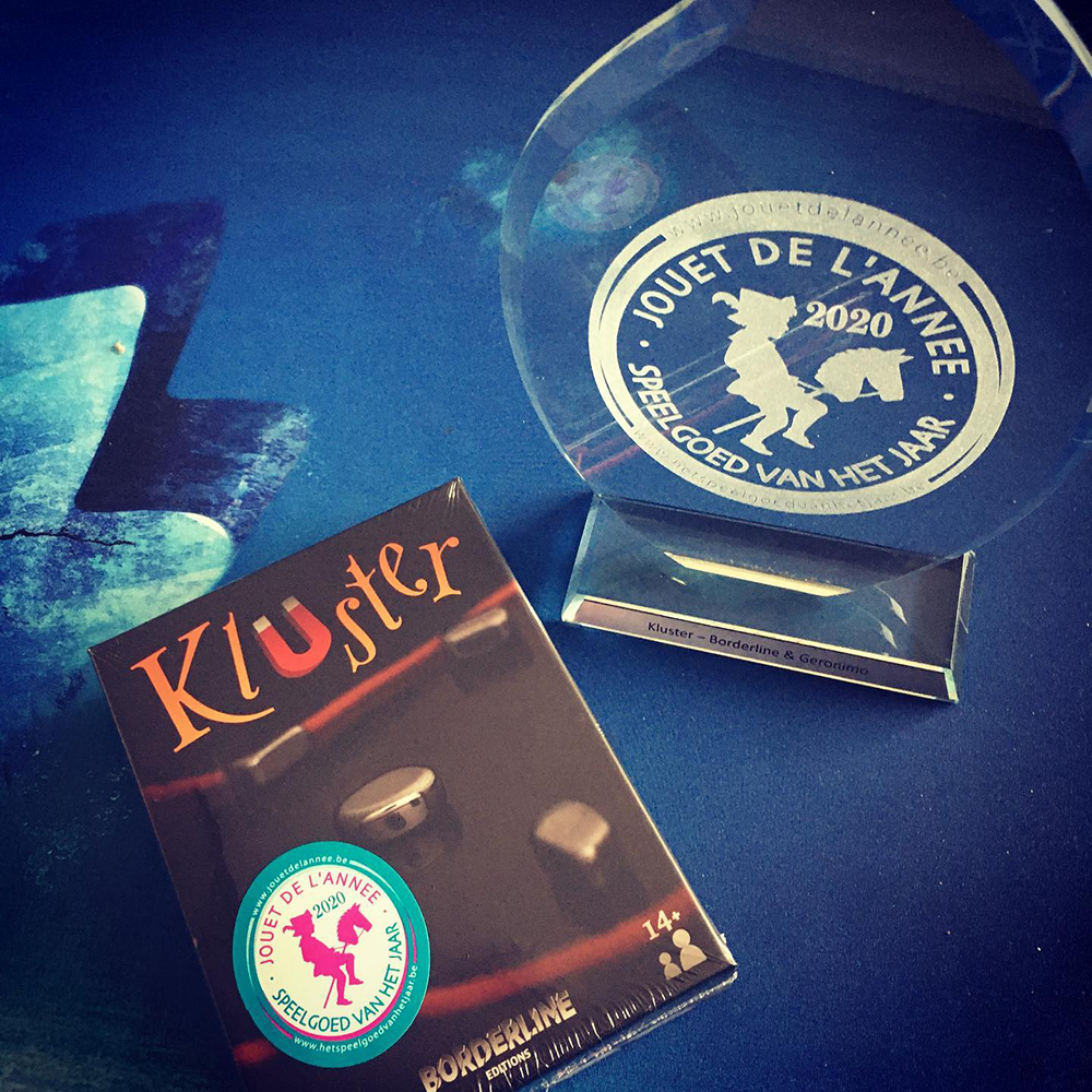 Kluster : Meilleur jeu de l'année 2020 en Belgique.